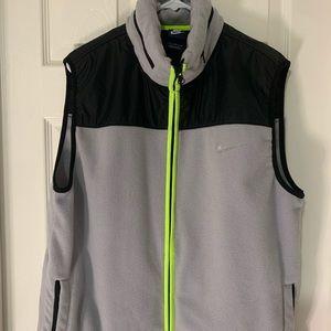 Nike Vest zip up Gray Neon with hidden Hood